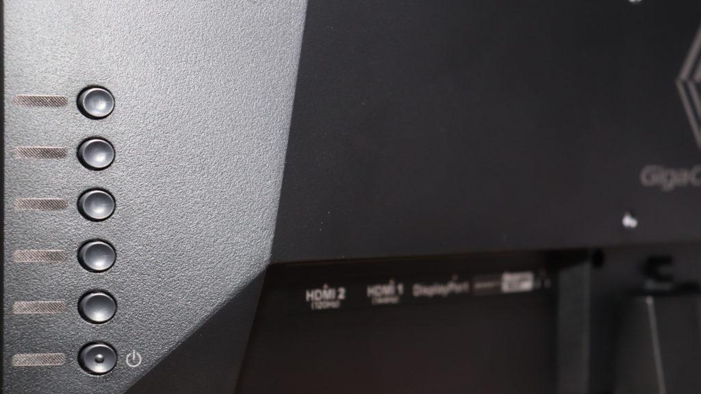 I-O DATA ゲーミングモニター EX-LDGC221HTB 21.5インチ GigaCrysta 144Hz/120Hz 0.6ms 液晶パネル 背面 ボタン